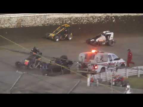Skagit Speedway Dirt Cup Night #1 NW Focus Midgets June 24th, 2021 - dirt track racing video image