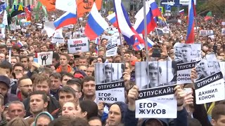 Russian Student May Be Imprisoned for Eight Years for Taking Part in Moscow Protests