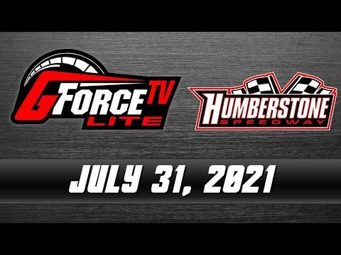 GForceTV Lite - Humberstone Speedway - July 31, 2021 - dirt track racing video image