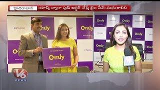 Actress Madhu Shalini Launches Omly App, A Platform To Order Food | V6 Telugu News