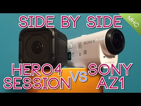 GoPro Hero4 Session Vs Sony AZ1 Side by Side ALL AREAS Covered
