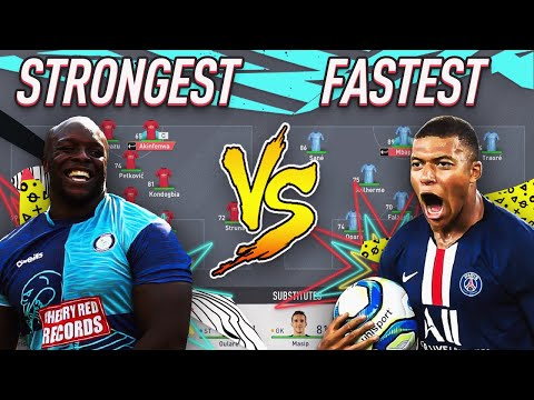 STRONGEST TEAM ? VS FASTEST TEAM ⚡ FIFA 20 EXPERIMENT! GIVEAWAY FORFEIT!