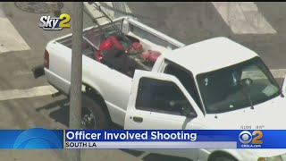 LAUSD Police Officer Hurt In Shooting; Witness Says Suspects Were Fighting Over Lawn Mower