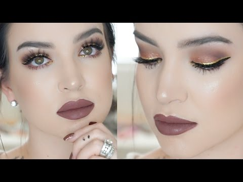 Rose Gold | NEW YEARS EVE MAKEUP TUTORIAL - UCcZ2nCUn7vSlMfY5PoH982Q