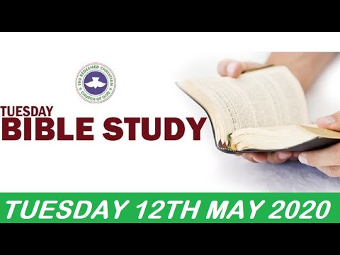 RCCG MAY 12th 2020 BIBLE STUDY  DOMINION OVER TEMPTATION