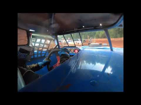 Quik Mccannon in car at Winder Barrow Speedway 2021 - dirt track racing video image