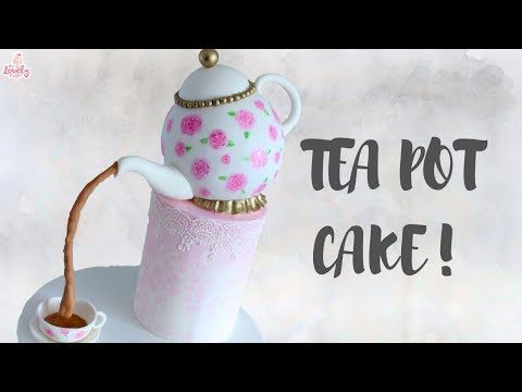 Pouring Teapot Mothers Day Cake Tutorial!