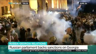 Russian parliament backs sanctions on Georgia
