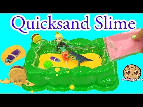 Dinosaur Quicksand Slime Pit Kit with Disney Frozen Queen Elsa and Shopkins - Cookieswirlc - UCelMeixAOTs2OQAAi9wU8-g
