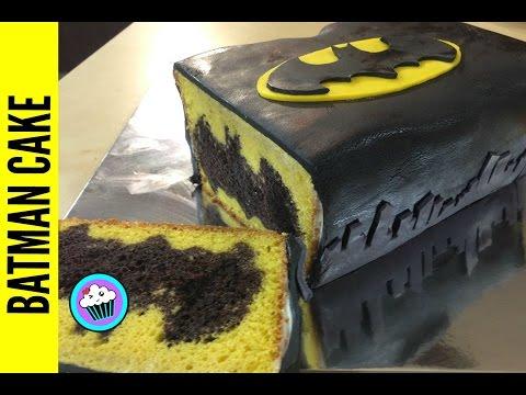 How to make Batman Cake - Pinch of Luck - UCkdCLxj3CZMZ27vB5BT70BA