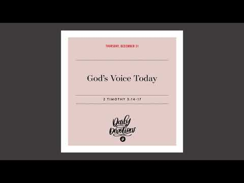 Gods Voice Today   Daily Devotional