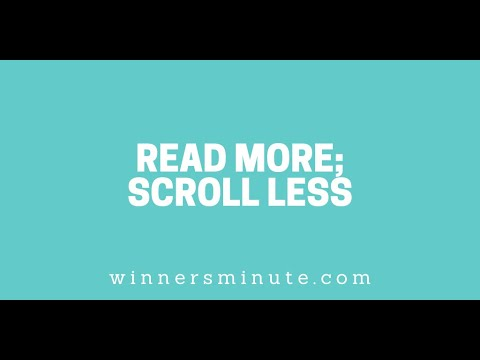 Read More; Scroll Less // The Winner's Minute With Mac Hammond