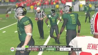 (2014 Ohio State Buckeyes vs 2014 Oregon Ducks) (NCAA Football 2014) PS3