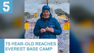 73-year-old man from Edinburgh scales Everest base camp in wife's memory | 5 News