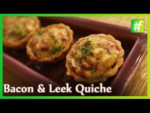 Bacon and Leek Quiche - Quiche Lorraine | By Chef Ajay Chopra