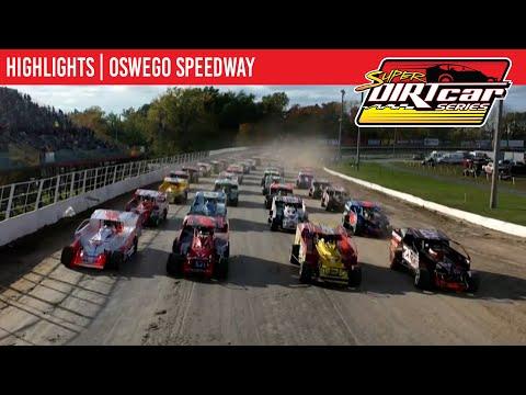Super DIRTcar Series Big Block Modifieds Oswego Speedway October 10, 2021 | HIGHLIGHTS - dirt track racing video image