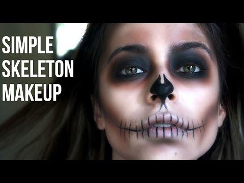 Simple Skeleton Makeup// Last Minute Halloween - UCw36m_CcHZAd09x5hIUm4Bg