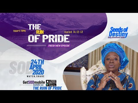 Dr Becky Paul-Enenche - SEEDS OF DESTINY - FRIDAY, 24TH APRIL, 2020