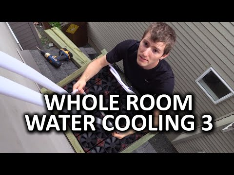 Whole Room Water Cooling Project Day 3 - Radiator Mounting and Panic...