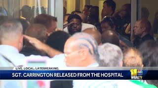 Baltimore police Sgt. Isaac Carrington released from Shock Trauma