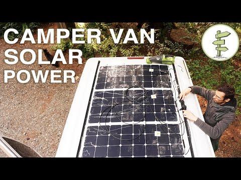 Van Life - Our Amazing Stealth Solar Power Set up!  Off Grid Camper Van - default