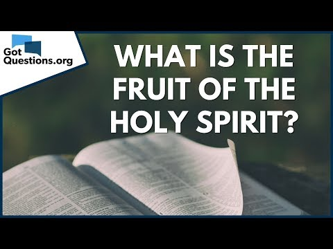 What is the fruit of the Holy Spirit?  GotQuestions.org