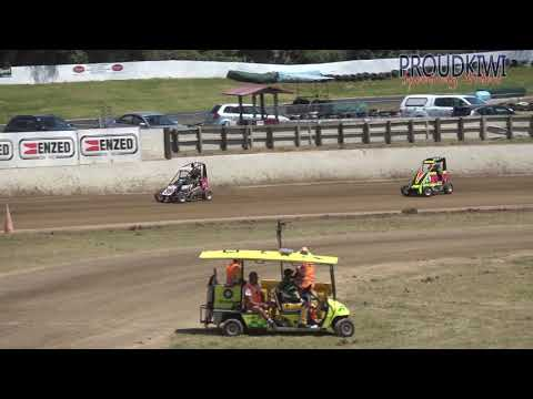 All of the 3 heats and the feature races for the Division 1 and 2 Quarter Midgets at the meeting held at Rosebank Speedway on Sunday 10 February 2019 - dirt track racing video image