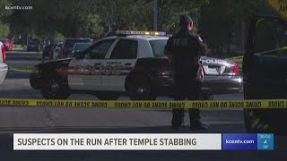 Police search for suspects after finding a stabbing victim in Temple neighborhood