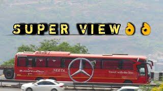 AMAZING 3 In 1 NEETA-BENZ~SHIVNERI~SHIVSHAHI BUS SUPER DRIVING ON HIGHWAY