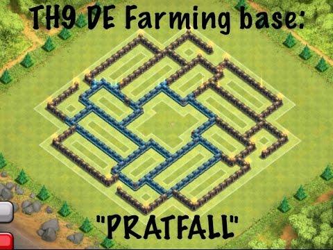 TH9 : BEST DE farming base 2014 : PRATFALL! - beakerslab1