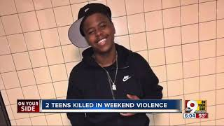 Two teens killed in weekend violence