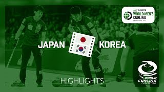 HIGHLIGHTS: Japan v Korea - round robin - Pioneer Hi-Bred World Men's Curling Championship 2019