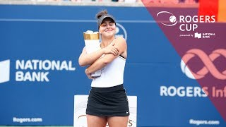 Bianca Andreescu wins Rogers Cup Toronto 2019 over Serena Williams