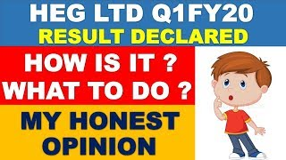 HEG Ltd quarterly result declared | stock market latest news | multibagger shares 2019 india