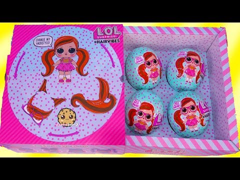 #HairVibes  NEW LOL Surprise Hair Style Mix + Match Giant Surprise Blind Bag Balls - UCelMeixAOTs2OQAAi9wU8-g