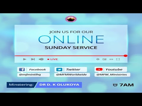 MFM SUNDAY SERVICE 15-8-2021 MINISTERING: DR D. K. OLUKOYA