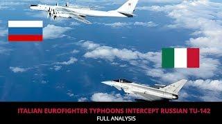EUROFIGHTER TYPHOONS INTERCEPT RUSSIAN TU 142 !!