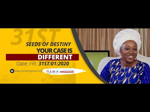 Dr Becky Paul-Enenche - SEEDS OF DESTINY - FRIDAY 31ST JANUARY, 2020.
