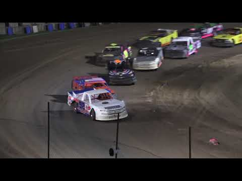 Pro Truck A-Feature at Crystal Motor Speedway, Michigan on 07-10-2021!! - dirt track racing video image