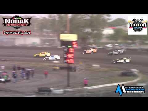 Nodak Speedway IMCA Sport Mod A-Main (Motor Magic Night #3) (9/5/21) - dirt track racing video image