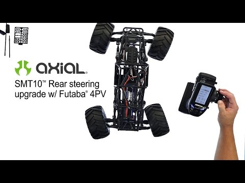 Axial SMT10 Rear Steering with Futaba 4PV: How-To | Racer lt