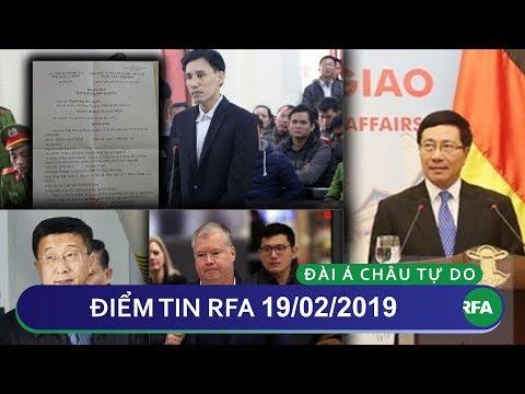 Điểm tin RFA tối 19/02/2019 | Phó TT VN thăm Đức nhằm nối lại ngoại giao
