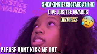 Sneaking backstage at the Live Justice Awards 2019 LA VLOG#2