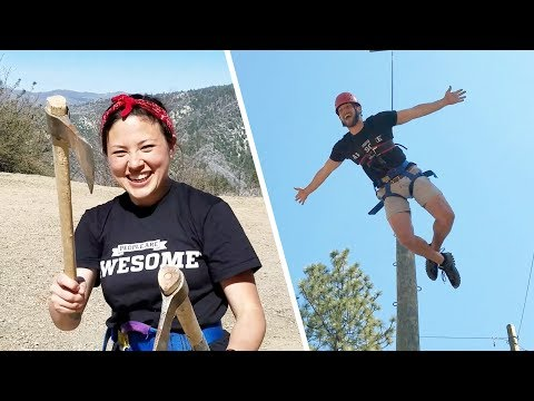 Throwing Tomahawks & Zip Lining at Pali Mountains! | Thrill Seekers - UCIJ0lLcABPdYGp7pRMGccAQ