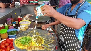 Cheese Omelette Curry : Best Egg Dish Recipe Ever || Jay Bhole Omelette Center || Surat Street Food
