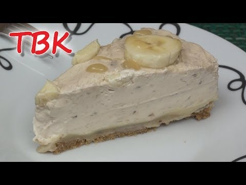 No-Bake Banana Toffee Cheesecake Recipe - Titli's Busy Kitchen