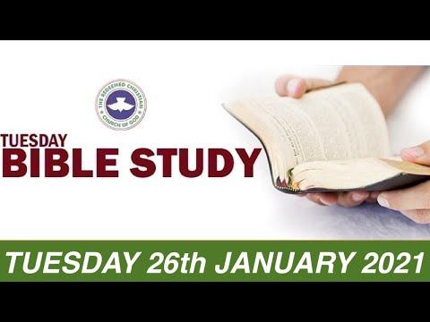 RCCG JANUARY 26th 2021 BIBLE STUDY