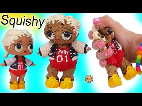 LOL Surprise DIY SQUISHY DOLL ! Handmade Do It Yourself Sponge Craft Video - UCelMeixAOTs2OQAAi9wU8-g