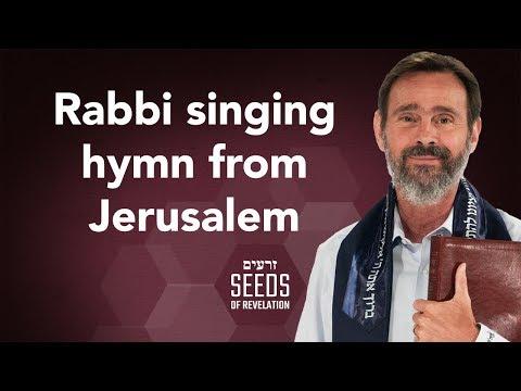 Rabbi singing hymn from Jerusalem