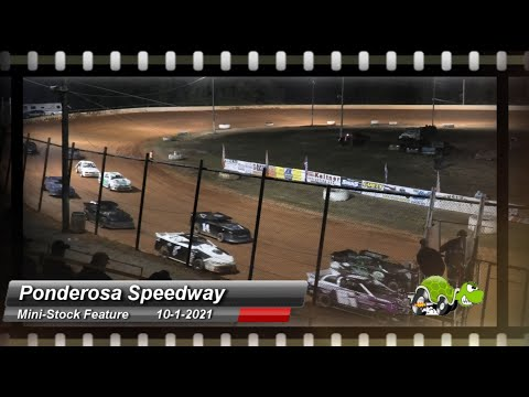 Ponderosa Speedway - Mini-Stock Feature - 10/1/2021 - dirt track racing video image